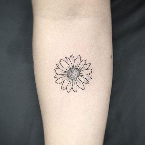 3 Simple Sunflower Tattoo design Ideas