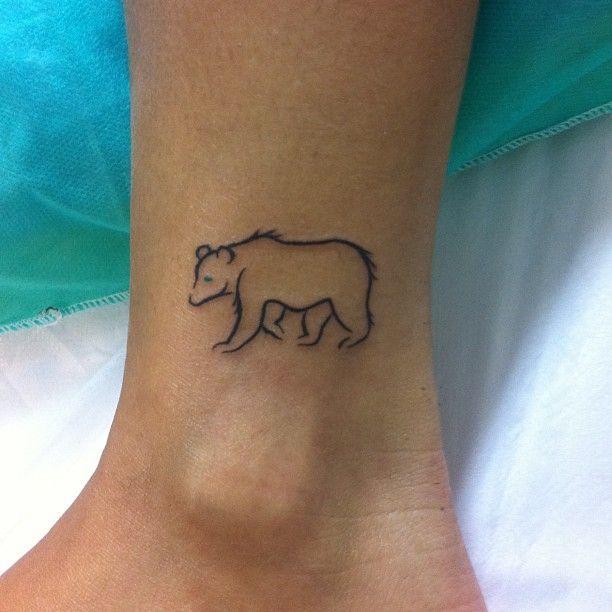 Cute Small Bear Tattoo