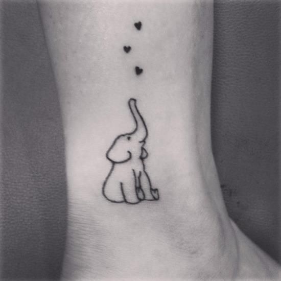 Cute Small Elephant Tattoo Meaning