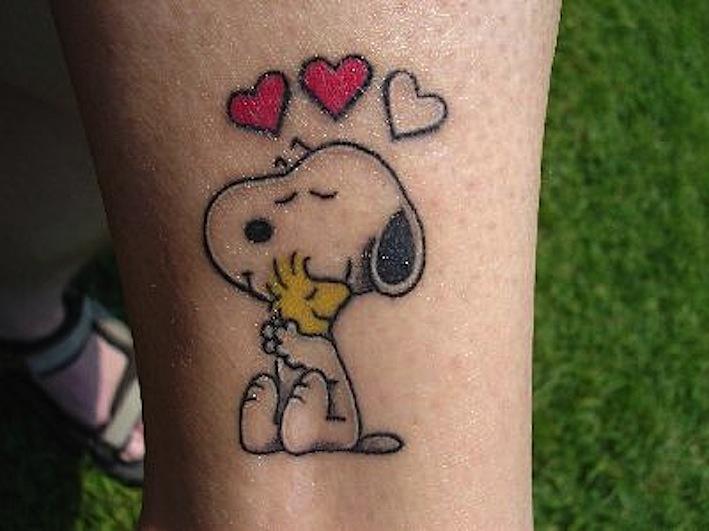 Cute Snoopy Tattoo Design Ideas