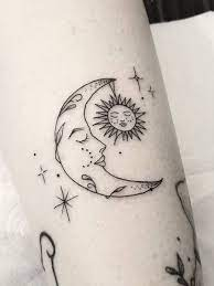 Sun, Moon, Star Tattoo – Great Picture design Ideas for Women