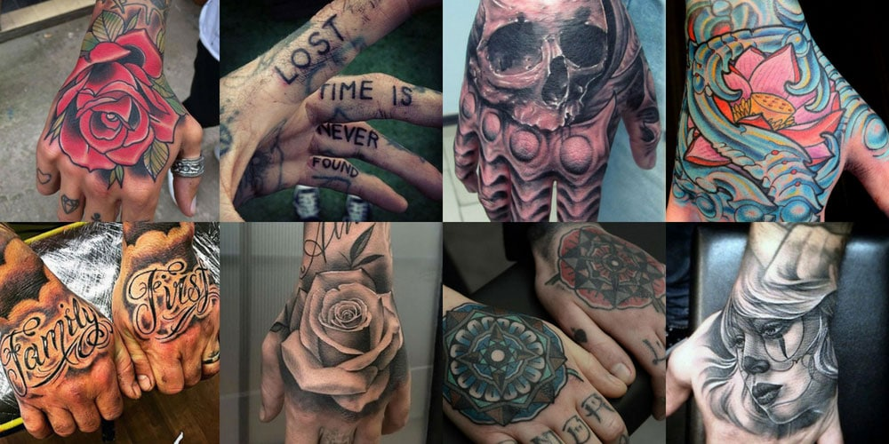 Best top of top of hand tattoos Design ideas