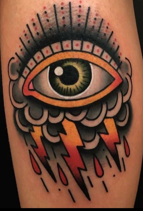 best traditional eye tattoo designs