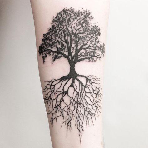 Beautiful Tree Roots Tattoo design ideas