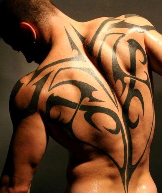 best Modern tattoo design ideas – Tribal Back tattoo