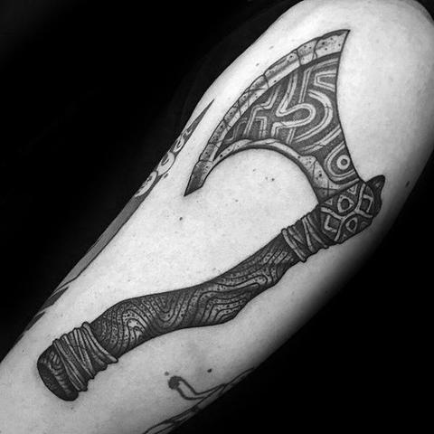 Best Viking Axe Tattoo
