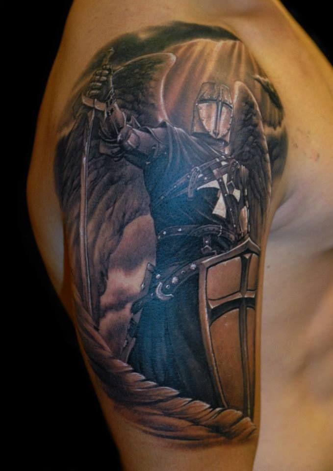 Modern Image ideas – Classic Warrior Angel Tattoo designs