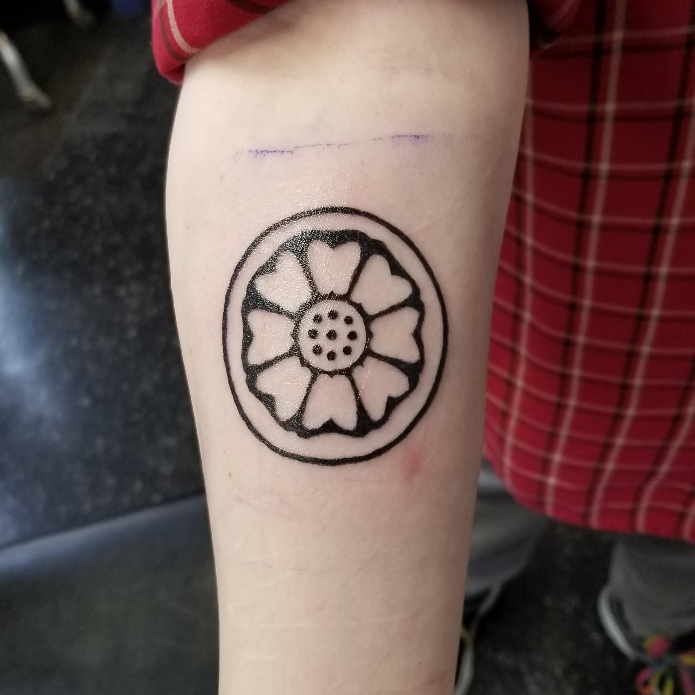 White Lotus Tattoo design – Tribal Flower Picture design