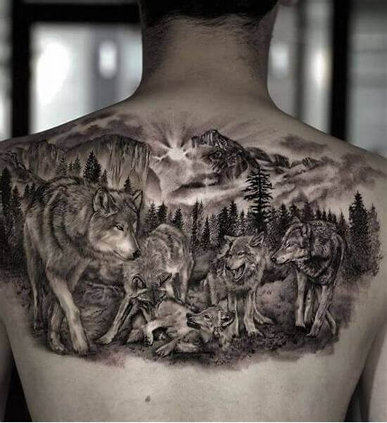 Wolf pack Pictures – Image ideas For Men Who Want to Express Their Masculinity With a Tattoo