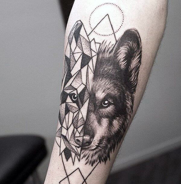 Wolf Tattoo For Men – Winter Wolf Picture design and Suggestions