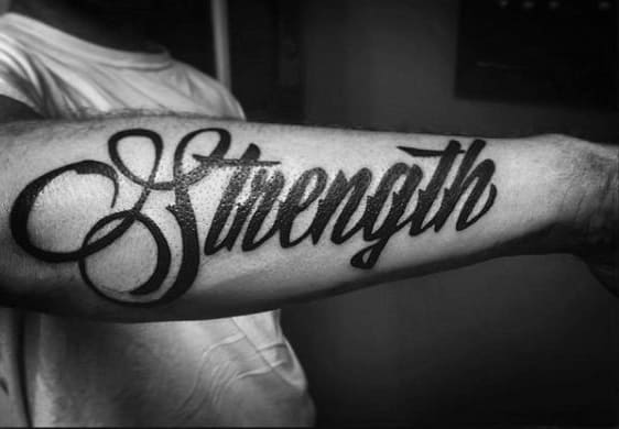 Word Tattoos For Men – Cool Designs For Arm And Back Pictures